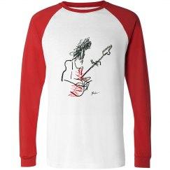 Eddie Van Halen Raglan Long Sleeve Tee