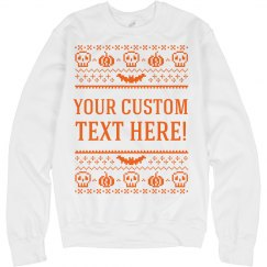 Skull & Pumpkin Custom Text Sweater