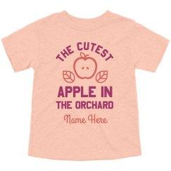 Custom Cutest Apple In Orchard
