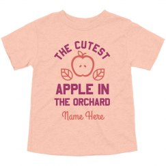 Custom Cutest Apple In Orchard