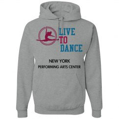 GREY LIVE TO DANCE ADULT HOODIE