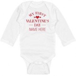 Infant Long Sleeve Baby Rib Bodysuit
