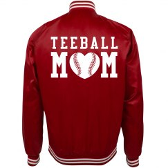 Teeball Mom Trendy Bomber