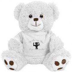 """8 """" Teddy Bear -Strong Mom"""