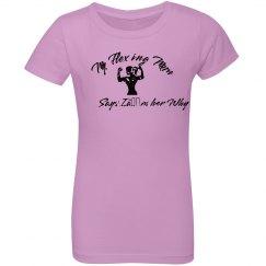 Girls Cotton Ruffle Shirt