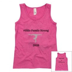 youth Hills Family strong Tank Pink