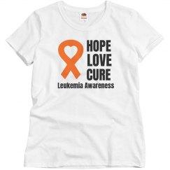 Hope Love Cure Leukemia