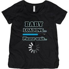 Baby Loading Maternity Humor Tee