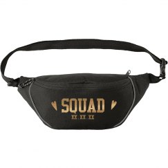 Bride Squad Matching Custom Gold Metallic Fanny Pack