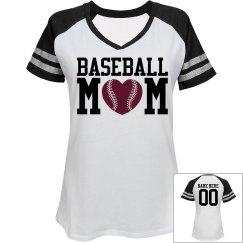 Baseball Mom Custom Jersey Name