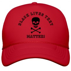 Black Lives They Matter Skull & Bones W Trucker Cap