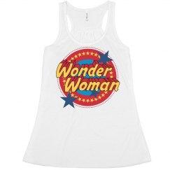 Vintage Wonder Woman Emblem Crop