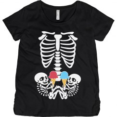 Funny twin maternity top