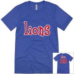 Lions mom with customizable number