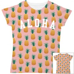 Cute Aloha Pineapple Print All Over