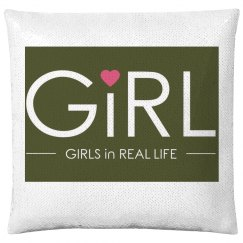 GiRLS In Real Life Sequin Pillow