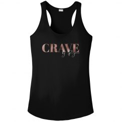 Crave Logo Black Pink and White