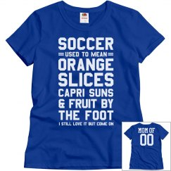 Funny Soccer Mom Shirt With Custom Name and Number