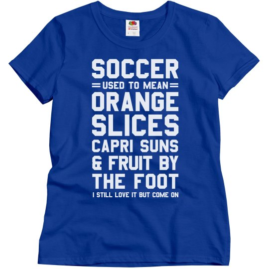 f390391a Funny Soccer Mom Shirt With Custom Name and Number Ladies Relaxed Fit Basic  T-Shirt: This Mom Means Business!