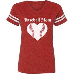 Red baseball mom