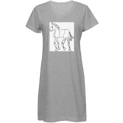 horse lover's night shirt