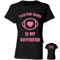 Custom Football Girlfriend Pink