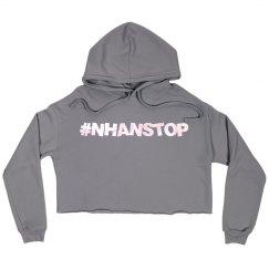 NhanStop Models Aly Cropped Fleece Hoody