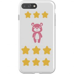 teddy bear with stars iphone 8 plus flexi case