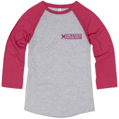 Messick Raglan - hot pink