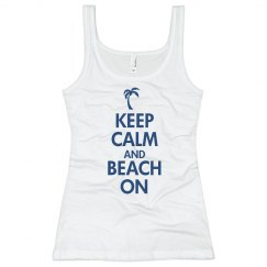 Keep Calm & Beach On Tank