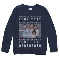 Your Text Family Upload Youth Sweater