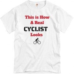 How cyclist looks