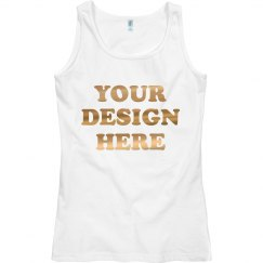 Custom Metallic Gold Text Tank Tops