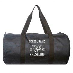 Add Your School Name Black Camo Duffel Bag