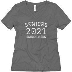 Custom School Seniors Boyfriend Tee