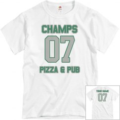 Champs 4 - White, Grey & Green - CUSTOMIZABLE WITH NAME