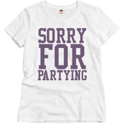 Sorry for Partying