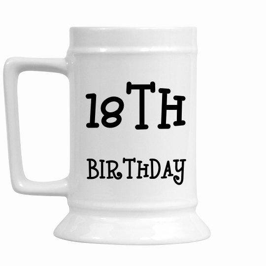 18TH Birthday Stein