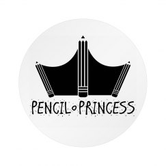 Pencil Princess Button with Pin (2)