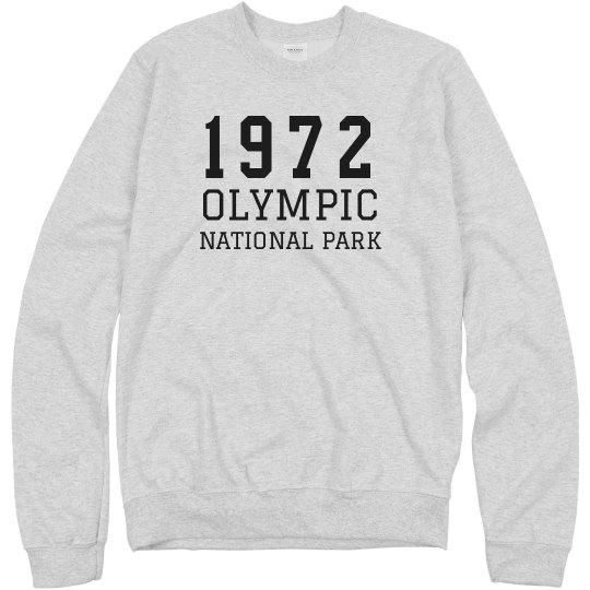 1972 Olympic National Park Custom Sweatshirt