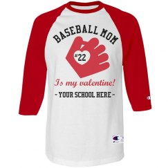Valentine Baseball Mom