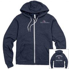 SBDA 2-toned Adult zip up hoodie - white font