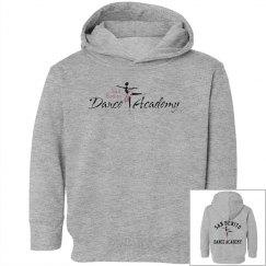 SBDA Toddler pullover hoodie sweatshirt - black font