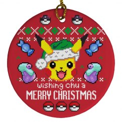 Wishing Chu A Merry Xmas Ornament