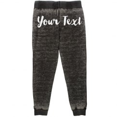 Custom Text Back Print Joggers