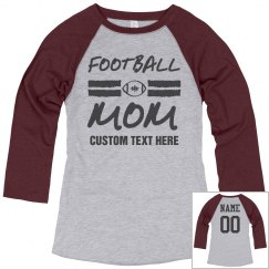 Football Mom Trendy Text Tee