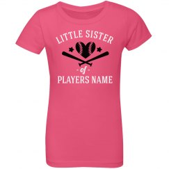 Custom Softball Little Sister