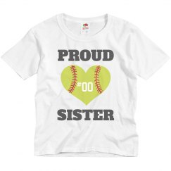 Proud Custom Softball Sister