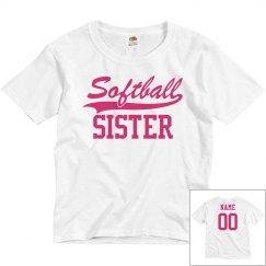 Custom Name Softball Sister