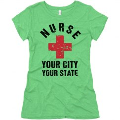 Nurse Custom City And State